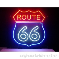 New Larger Route 66 Neon Light Sign 20''x16'' L66(No More Long Waiting for WEEKS/MONTHS with Fast Shipping From CA With FREE USPS Priority Mail) - B00X0QXJ68