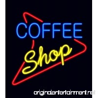 "New Star neon Signs Factory Coffee Shop Metal Frame Neon Sign 24""x20"" Real Glass Neon Sign Light for Beer Bar Pub Garage Room. - B07DRJY7PF"