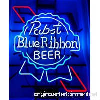 Pabst Blue Ribbon Beer Neon Signs Pub Display Neon Light Signs Real Glass Tube Bar Pub Game Room Decoration Handicrafted BeerSuper Bright 19x15 THE FASTEST - B01EUURI9G
