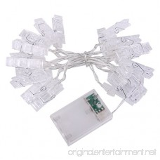 Photo Clip String Lights 20 Photo Clips Perfect for Hanging Photos Pictures Notes Paintings Card and Memos- 2 2 Meter/7 2 Feet - 3 AA Batteries Powered - B01MQVWAO9