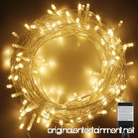 PMS 100-1000 LED String Fairy Lights on Clear Cable with 8 Light Effects Low Voltage Transformer included UL Listed Ideal for Christmas Xmas Party Wedding (400 LED Warm White) - B00X5LQ38O