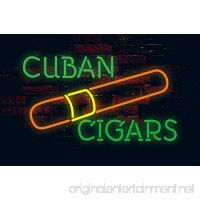 Prang-US Cuban Cigars Neon Signs 17×14 inch  Real Neon Signs made with Glass Tubes  Brilliant Neon Open Sign. Eye-catching Neon Beer Sign. - B075M8XGD5