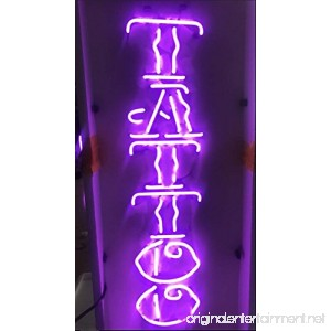 Prang-US Tattoo Neon Signs 24×10 inch Real Neon Signs made with Glass Tubes Brilliant Neon Open Sign. Eye-catching Neon Beer Sign. - B075WW23LV