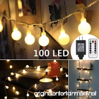 ProGreen 33ft 100 LED Globe String Lights  8 Dimmable Lighting Modes with Remote & Timer  UL Listed 29V Low voltage Waterproof Decorative Lights for Bedroom  Patio  Garden  Parties(Warm White) - B01N1F5ISB