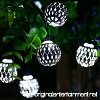 Recesky Battery Operated String Lights with Timer 40 LED 22.5ft Globe Lantern Decor Lighting for Outdoor Indoor Garden Yard Home House Party Wreath Garland Xmas Christmas Tree Decorations - White - B01FLJ0PN6