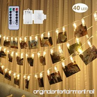 [Remote & Timer] 40 LED Photo String Lights - Adecorty Battery Operated Photo Clips Lights with 8 Modes  Twinkle Fairy String Lights  Ideal Gift for Christmas Wedding Dorm Bedroom Decor Warm White - B0759MHZVF