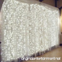 Slashome 600 LED Curtain Icicle Lights with 8 Modes  Curtain String Fairy Wedding Led Lights for Wedding  Party  Home Wall  Bathroom  Holiday Decorative Lights(White) - B01NAKSG55