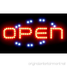 SPRINGROSE Large Neon LED Open Sign with Animation Motion and Constant On Functions | Perfect for Shops Salons Bars Pubs Cafes Gas Stations Motels and Offices!!! - B01BNWH704