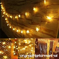 Star Fairy String Lights Battery Operated  AMARS 5M 40 LED Star Battery Powered String Lights for Bedroom  Bed  Garden  Patio  Wedding  Party (Warm White) - B072V18X25