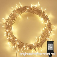 String Lights  100 LED Indoor Fairy Lights with [Remote] &[Timer] on 36ft Clear String for Bedroom  Patio  Garden  Gate  Yard  Party  Wedding (8 Modes  Dimmable  Low Voltage Plug  Warm White) - B01712XY0M
