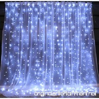 String lights Window Curtain 300 LED Icicle Fairy Twinkle Starry Lights-UL Listed for Indoor and Outdoor  Wedding  Christmas  Home Bedroom Wall Decoration  Party (9.8ftx9.8ft  Pure white) - B073GQYQVB