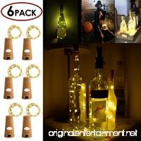 STYDDI Wine Bottle Cork Light  6 Pack 30inch/75cm 15 LED Siliver Wire lights for bottle DIY  Wedding  Christmas  Halloween  Party Decoration or Mood Lights(Warm White) - B01N6AQASB