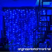 SZXKT 304LED 9.84FT Fairy Curtain String Lights with 8 Lighting Modes for Christmas Holiday Home Party Garden Window - Blue - B07CTLVGKR