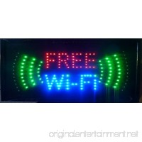 UbiGear 10 * 19 inch Animated Motion LED Business Free WIFI SIGN On/Off Switch Light - B01H437T4A