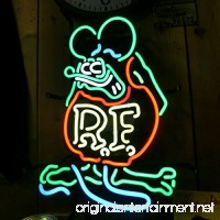 Urby® Rat Fink Mouse RETRO RF Real Glass Neon Light Sign Home Beer Bar Pub Windows Garage Wall Sign 19''x15'' R2 - B01D66XQJQ