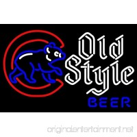 Urby™ Cubs Old Style Beer Neon Sign Neon Light Beer Bar Pub Recreation Room Windows Wall Sign Display Signboards 20''x16'' A26-01 - B01M6AKK3V