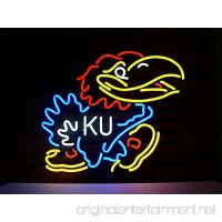 Urby™ Kansas Jayhawks Real Glass Neon Light Sign Home Beer Bar Pub Recreation Room Game Room Windows Garage Wall Sign 18''x14'' A13-08 - B01M0AVUJX