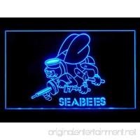 US U.S. Navy Seabees Beer Led Light Sign - B017HFR3KK