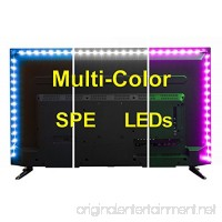USB LED Lighting Strip for HDTV - Medium (78in/2m) - Multi-Color RGB - USB LED Backlight Strip with Dimmer for Bias Lighting HDTV  Flat Screen TV LCD  Desktop Monitors  Kitchen Cabinets… - B01LWMIT4P