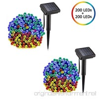voona Solar String Lights Multi-Color 2-Pack 200 LED 72FT Outdoor Christmas Decoration LED Fairy Lights Two Modes for Home Lawn Garden Patio Wedding Holiday Party Indoor and Outdoor (multi-color) - B078JWG26F