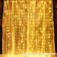 Window Curtain String Lights 300 LED Icicle Fairy Twinkle Starry Lights-UL Listed for Indoor and Outdoor  Wedding  Christmas  Party  Garden Home Bedroom Wall Decoration (9.8ftx9.8ft  Warm White) - B07CJXLXSC