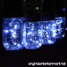 Abkshine 3Pack Solar Mason Jar Light Lid Assemblies LED Fairy Lights for Garden Yard Patio Grave Decoration(White Light 3 pcs Hangers Included) - B07D29ZTLD