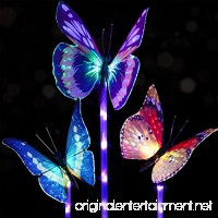 Adecorty Garden Solar Lights Outdoor  Solar Stake Lights With Purple LED Lights Waterproof Multi-color Changing Fiber Optic Butterfly Decorative Lights for Landscape Patio Backyard Decoration (3 pack) - B07FB2NTS9
