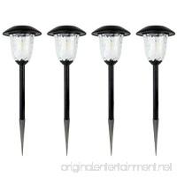 Best Solar Light Outdoor Solar LED Filament-Style Path Weatherproof Metal Light | 10X Brightness | 3000K | 4-Pack - B074K5XXRP