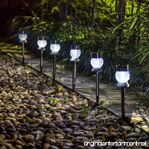 GIGALUMI Solar Lights Outdoor Garden Led Light Landscape/Pathway Lights Stainless Steel-6 Pack - B06X41SR2X