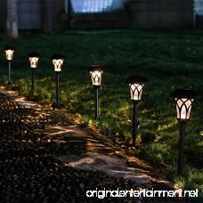 GIGALUMI Solar Pathway Lights Outdoor 6 Pcs Super Bright High LUMEN Solar Powered LED Garden Lights for Lawn Patio Yard. - B0779W2FSJ
