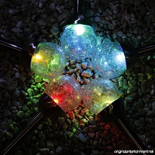 Grand Patio Crackle Glass Globe Solar Path Lights Weather