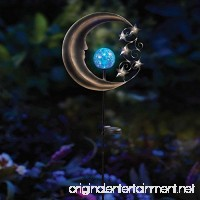 Innovative Solar Moon Garden Light Stake in Silver/Blue Beautifully Lights Up Your Garden Up To 8 Hours - B06X3WP775