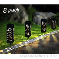 Maggift 8 Pcs Solar Pathway Lights Solar Garden Lights Solar Lights Outdoor for Lawn  Patio  Yard  Walkway  Landscape (Leave) - B074M6CVK5