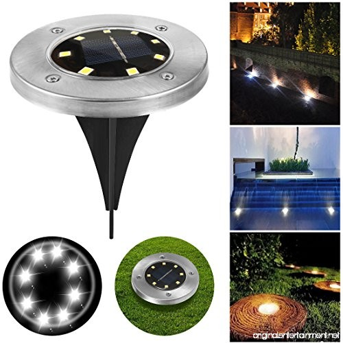 Outdoor Solar Lights In Ground: Newfen Solar Ground Lights Outdoor Disk Lights Garden