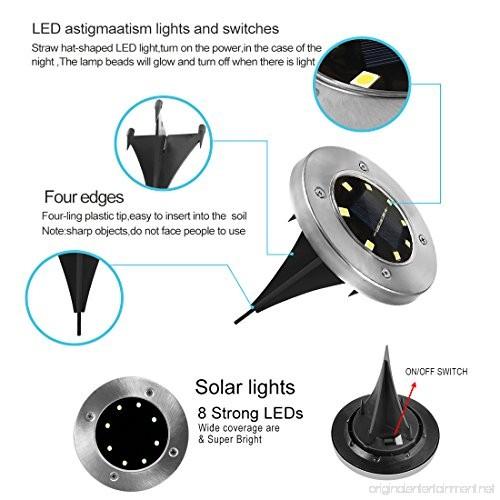 Newfen Solar Ground Lights Outdoor Disk Lights Garden