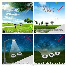 Newfen Solar Ground Lights Outdoor Disk Lights Garden Pathway Outdoor In-Ground Solar Lights With 8 LED (4 Pack; White) - B07CSMZ94B