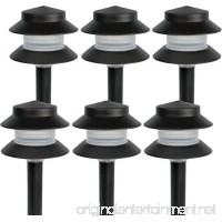 Paradise GL22627 Low Voltage Plastic 4W Path Light (Black  6 Pack) - B079X3YHR4