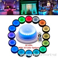 Remote Control LED Under Table 16 Colors Change Wedding Decoration Lights  for Parties  Events  Birthdays with 18 LEDs  Super Bright  4000 mAh Rechargable Lithium Battery(1 PCS) - B078H4S8RT