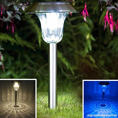 sogrand solar garden lights outdoor decorations stakes pathway decorative stainless steel stake. Black Bedroom Furniture Sets. Home Design Ideas