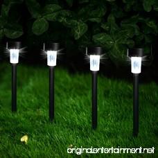 Solar Lights Outdoor [12 Pack]-Solar Powered Garden Lights Waterproof Pathway lights Outdoor Landscape Lighting for Lawn/Patio/Yard/Walkway/Driveway(Black) - B07CZ8N2SS