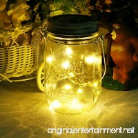 Solar Mason Jar Light  LED Glass Outdoor Hanging Patio Lantern  Decorative String Fairy Lamp for Garden - B0721N7BW6