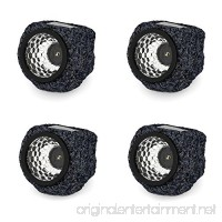 Solar Powered Rock Lights (Set of Four)- LED Outdoor Stone Spotlight Fixture for Gardens  Pathways  and Patios by Pure Garden - B00WQQA5KQ
