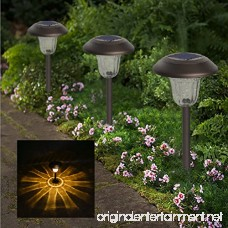 Solpex 4 Pcs Solar Powered LED Path Lights High Lumen Automatic Led for Patio Yard Lawn and Garden(Bronze Finished Warm White) - B07B452SR4