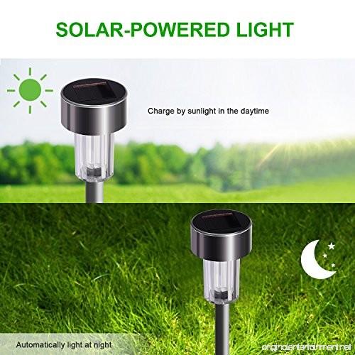 Stripsun Led Solar Garden Lights 12 Pack Stainless Steel