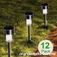 Stripsun LED Solar Garden Lights  [12 Pack] Stainless Steel Outdoor Solar Landscape Lights / Pathway Lights for Lawn  Yard  and Driveway - B07B8J9TK5