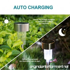 Sunnest Solar Powered Pathway Lights Solar Garden Lights Outdoor Stainless Steel Landscape Lighting for Lawn/Patio/Yard/Walkway/Driveway (12 Pack) - B074M6SG3H