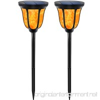 TomCare Solar Lights Solar Torches Lights Waterproof Dancing Flame Outdoor Lighting Landscape Decoration Lighting 96 LED Solar Powered Path Lights Dusk to Dawn Auto On/Off for Garden Patio Yard(2) - B075D48VFS