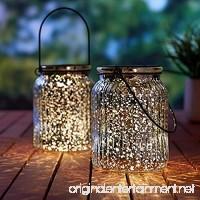 voona 2-Pack Solar Mercury Glass Jar Hanging Outdoor Light for Garden Decorations Outdoor Decor (Silver) - B06XP8BP9S
