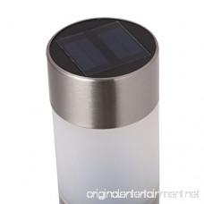 Voona Solar Bollard Lights Outdoor 6-Pack Stainless Steel Warm White LED Lights for Garden Pathway Landscape(Silver) - B01LXPDEPF