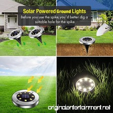 Yakalla Solar Ground Lights Garden Pathway Outdoor in-Ground Lights with 8 LED (6 Pack) - B07DPMKWP4